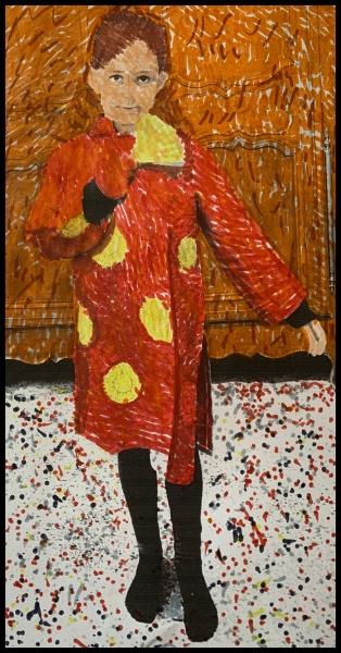 Lucille fait son auto-portrait à la Van Gogh