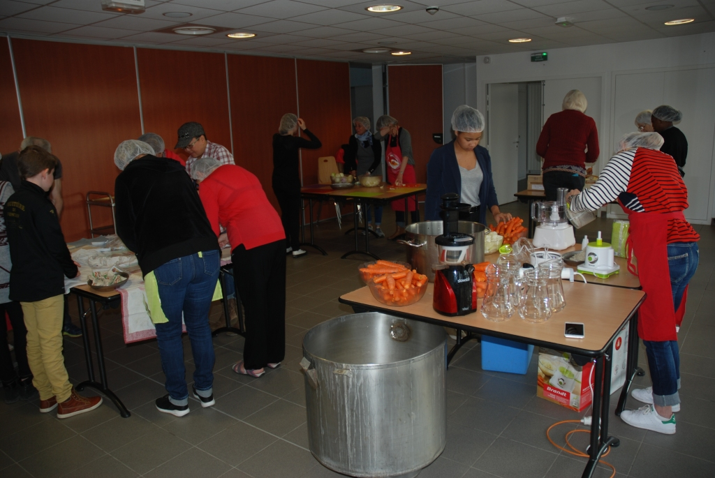 Les ateliers de préparation. Cliché C. Cavero
