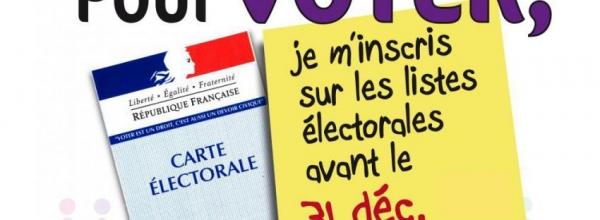 Inscription sur les listes d'électorales