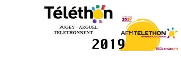 Samedi 30 novembre 2019, Pugey & Arguel Téléthonnent !