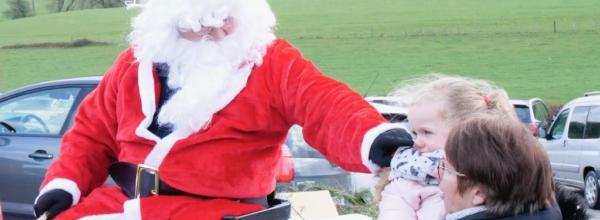 Le Père Noël s'est arrêté à Pugey