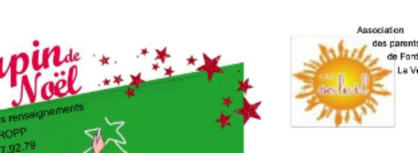 Soutien à l'association 123 Soleil : Commande de sapin de Noël 2020